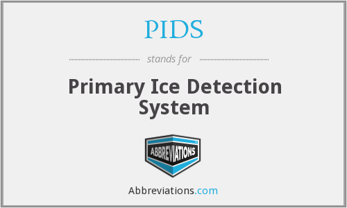 PIDS - Primary Ice Detection System