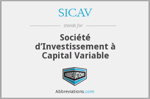 What does SICAV stand for?
