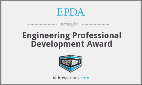 EPDA - Engineering Professional Development Award