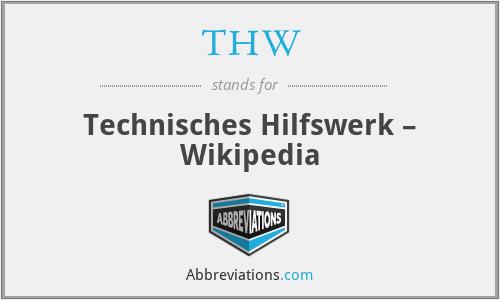 THW - Technisches Hilfswerk – Wikipedia