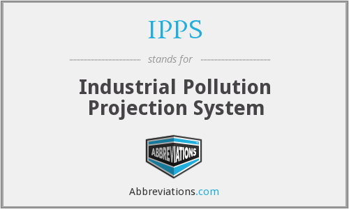 IPPS - Industrial Pollution Projection System