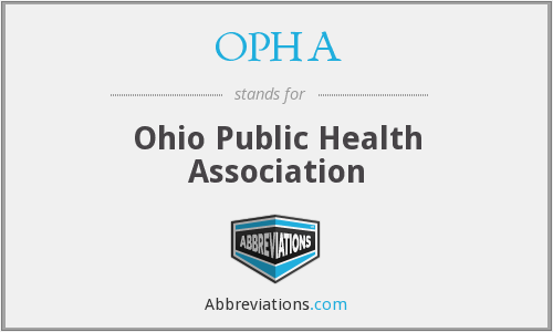 What does OPHA stand for?