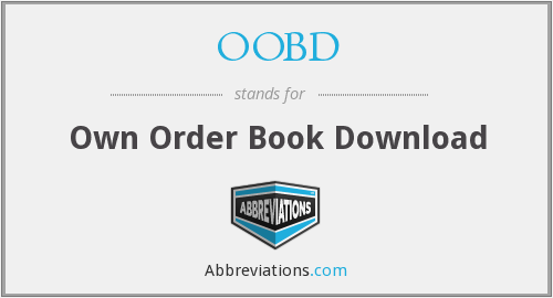 OOBD - Own Order Book Download