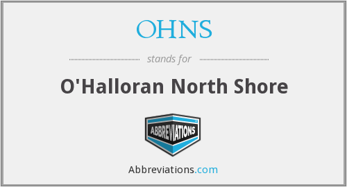What does OHNS stand for?