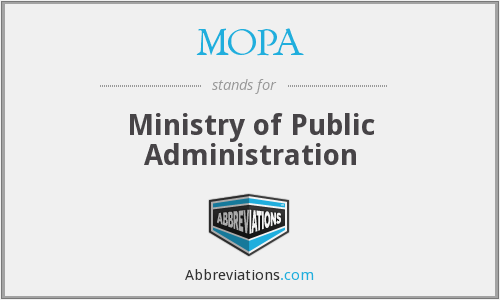 MOPA - Ministry of Public Administration