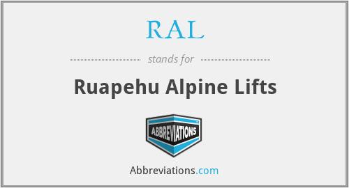 RAL - Ruapehu Alpine Lifts