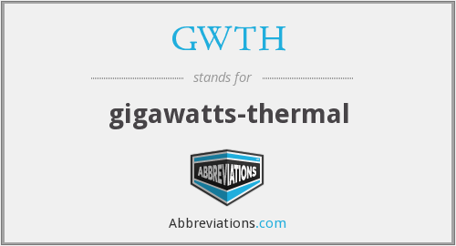 What does GWTH stand for?