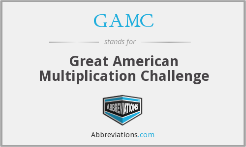 GAMC - Great American Multiplication Challenge