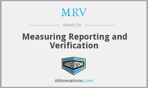 MRV - Measuring Reporting and Verification