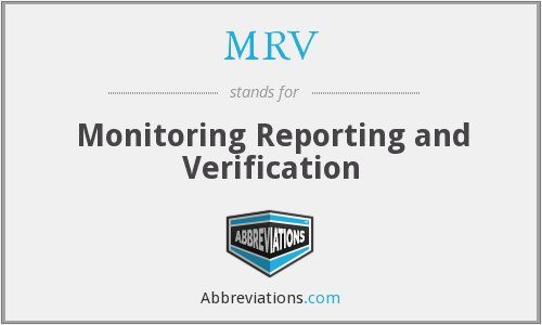 MRV - Monitoring Reporting and Verification