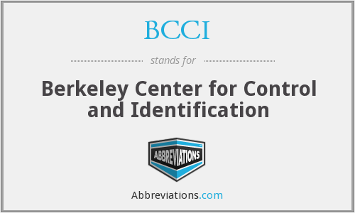 BCCI - Berkeley Center for Control and Identification