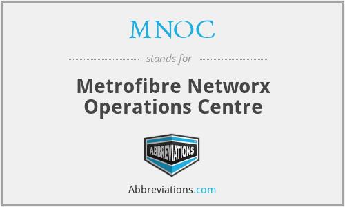 MNOC - Metrofibre Networx Operations Centre