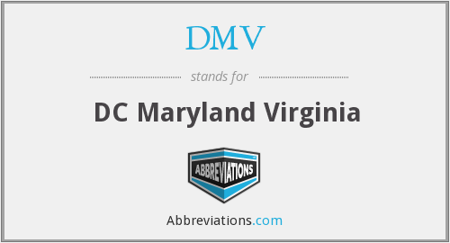 DMV - DC Maryland Virginia