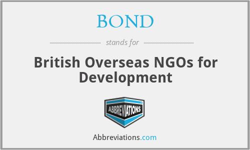 BOND - British Overseas NGOs for Development