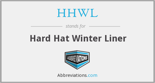 What does HHWL stand for?