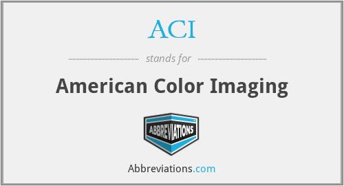 ACI - American Color Imaging