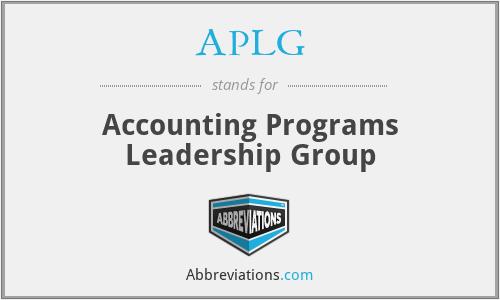 APLG - Accounting Programs Leadership Group