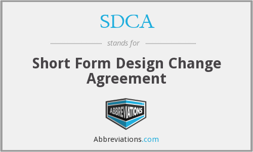 SDCA - Short Form Design Change Agreement