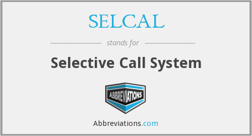What does SELCAL stand for?