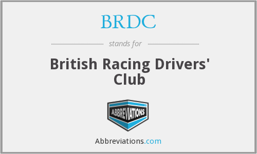 What does BRDC stand for?