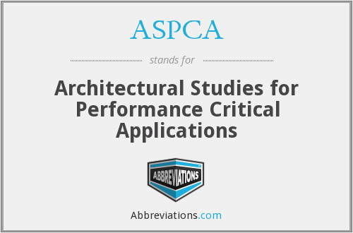 ASPCA - Architectural Studies for Performance Critical Applications