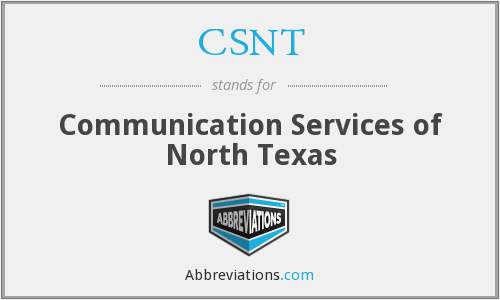 CSNT - Communication Services of North Texas