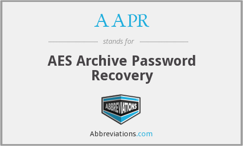 AAPR - AES Archive Password Recovery