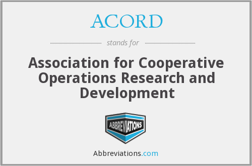 What does ACORD stand for?
