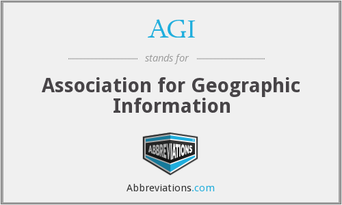 AGI - Association for Geographic Information