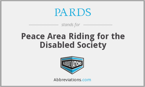 PARDS - Peace Area Riding for the Disabled Society
