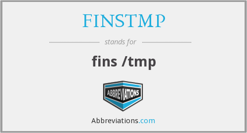 What does FINSTMP stand for?