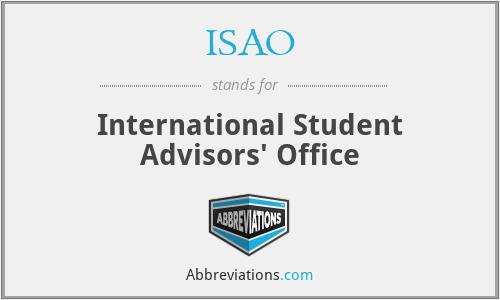 ISAO - International Student Advisors' Office