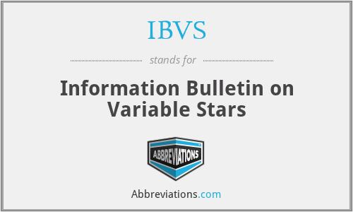 IBVS - Information Bulletin on Variable Stars