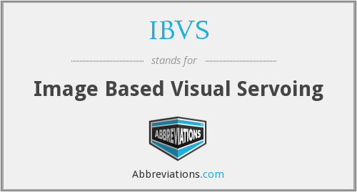 IBVS - Image Based Visual Servoing