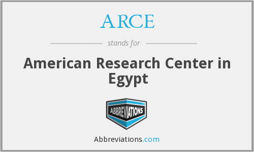 What does ARCE stand for?