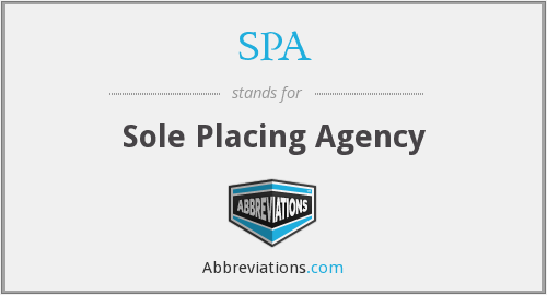 SPA - Sole Placing Agency