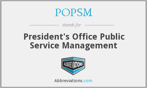 What does POPSM stand for?