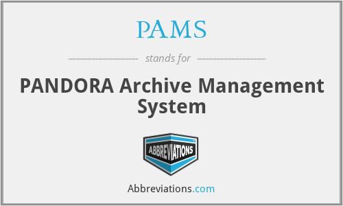 PAMS - PANDORA Archive Management System
