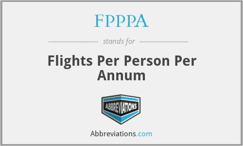 FPPPA - Flights Per Person Per Annum