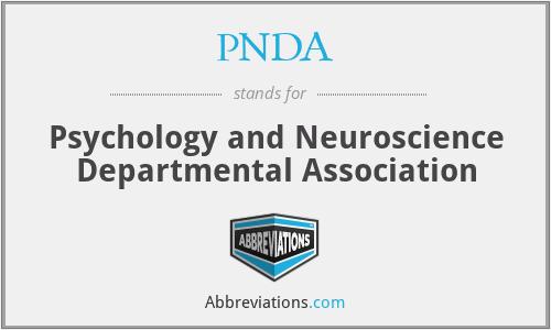 PNDA - Psychology and Neuroscience Departmental Association
