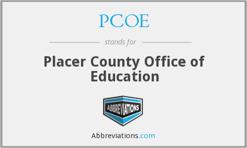 PCOE - Placer County Office of Education