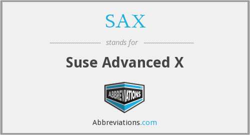SAX - Suse Advanced X