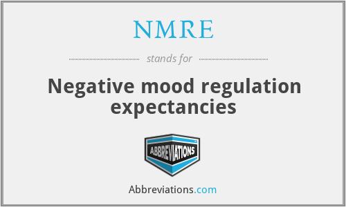 NMRE - Negative mood regulation expectancies