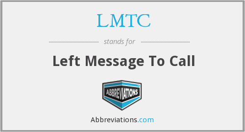 What does LMTC stand for?