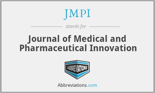 JMPI - Journal of Medical and Pharmaceutical Innovation