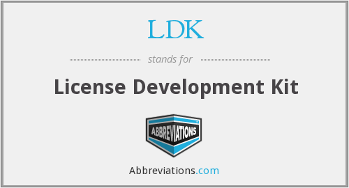 LDK - License Development Kit