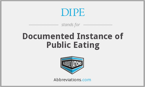 What does DIPE stand for?