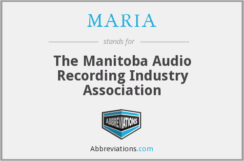MARIA - The Manitoba Audio Recording Industry Association