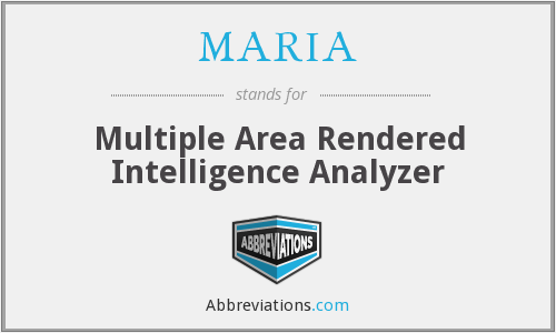 MARIA - Multiple Area Rendered Intelligence Analyzer