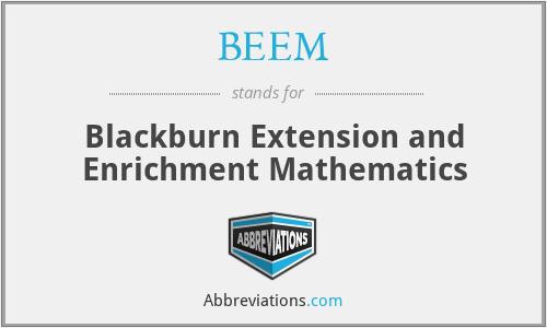 BEEM - Blackburn Extension and Enrichment Mathematics